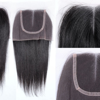 Virgin Hair Lace Closure Natural Straight